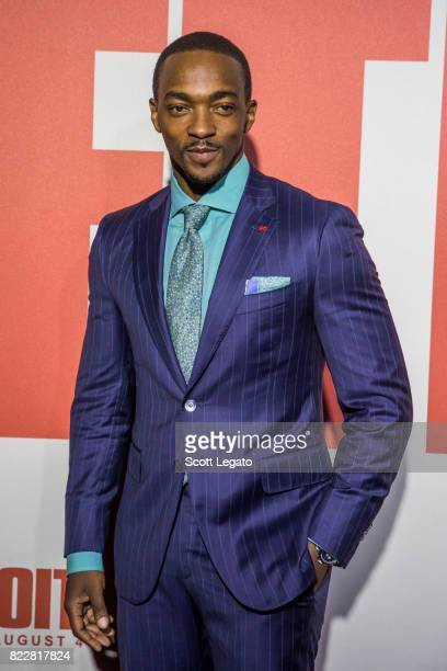 Actor Anthony Mackie attends the 'Detroit' world premiere at Fox Theatre on July 25 2017 in Detroit Michigan
