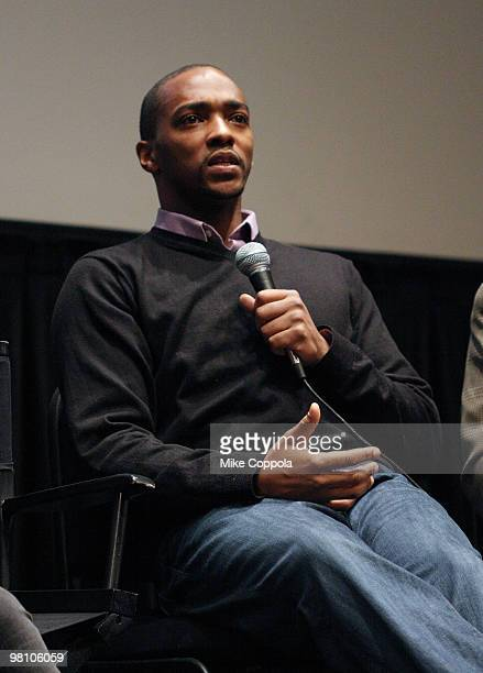 """Actor Anthony Mackie attends the Film Society of Lincoln Center's """"Night Catches Us"""" at Walter Reade Theater on March 28, 2010 in New York City."""