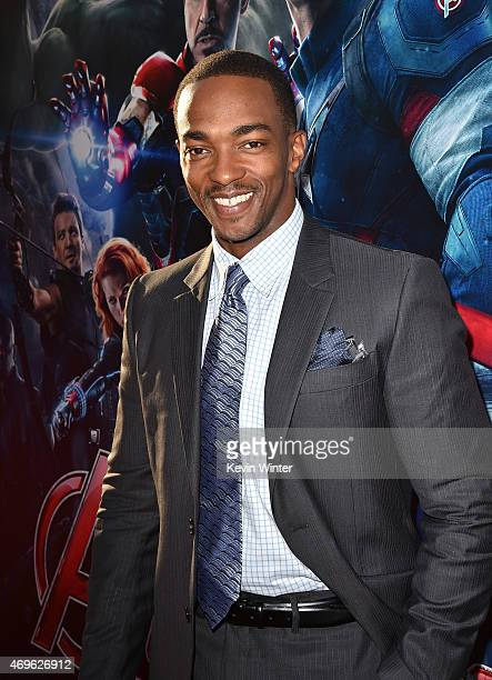 Actor Anthony Mackie attends the premiere of Marvel's 'Avengers Age Of Ultron' at Dolby Theatre on April 13 2015 in Hollywood California