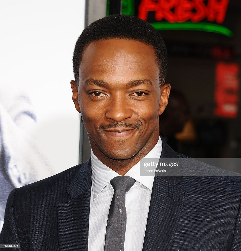 Actor Anthony Mackie attends the premiere of 'Our Brand Is Crisis' at TCL Chinese Theatre on October 26, 2015 in Hollywood, California.