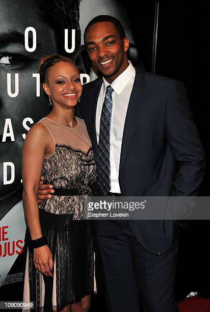 Actor Anthony Mackie attends the premiere of The Adjustment Bureau at the Ziegfeld Theatre on February 14 2011 in New York City