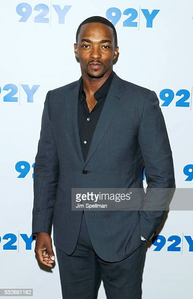 Actor Anthony Mackie attends the preview screening of 'All The Way' at 92nd Street Y on May 18 2016 in New York City