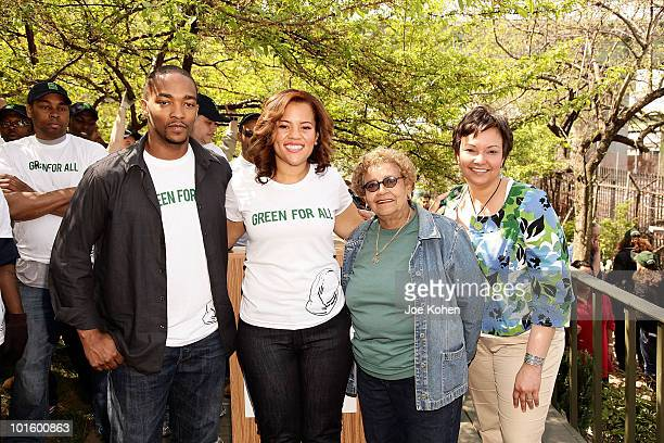 Actor Anthony Mackie Chief Executive Officer of Green For All Phaedra EllisLamkins North Park Outreach Coordinator at Riverside Park Fund Jenny...