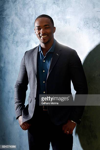 Actor Anthony Mackie of 'All The Way' is photographed for Los Angeles Times on May 9 2016 in Los Angeles California PUBLISHED IMAGE CREDIT MUST READ...