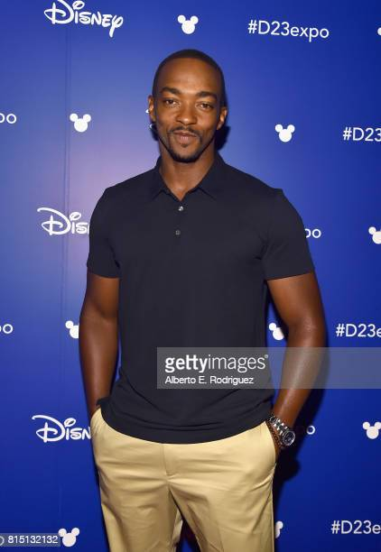 Actor Anthony Mackie of AVENGERS INFINITY WAR took part today in the Walt Disney Studios live action presentation at Disney's D23 EXPO 2017 in...