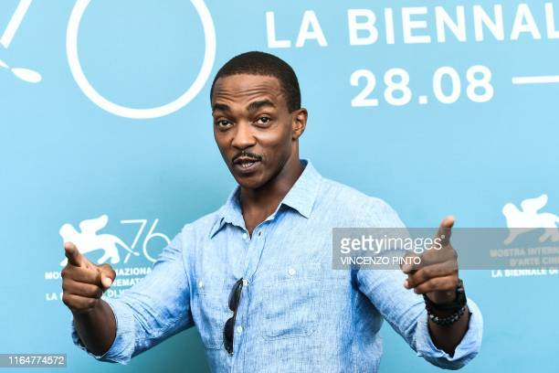 US actor Anthony Mackie poses during a photocall for the film Seberg presented out of competition on August 30 2019 during the 76th Venice Film...