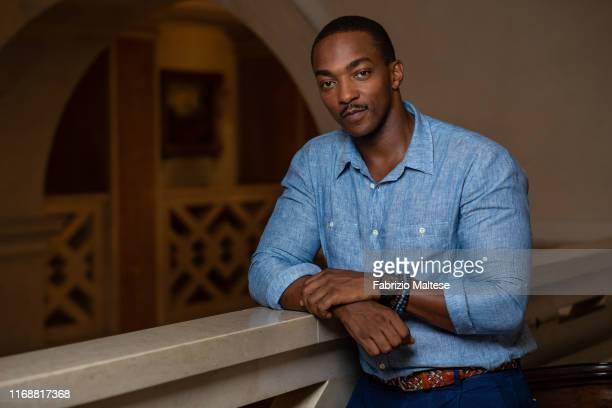 Actor Anthony Mackie poses for a portrait on August 30, 2019 in Venice, Italy.