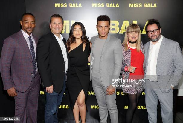 Actor Anthony Mackie producer Kevin Misher actors Gina Rodriguez Ismael Cruz Cordova director Catherine Hardwicke and producer Pablo Cruz attend the...