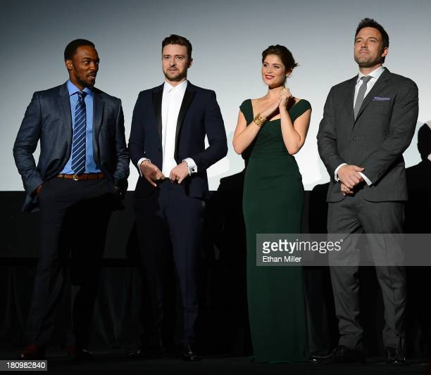 Actor Anthony Mackie, singer/actor Justin Timberlake, actress Gemma Arterton and actor/director Ben Affleck introduce the world premiere of Twentieth...