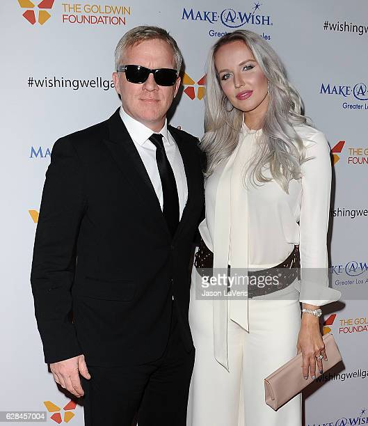 Actor Anthony Michael Hall and actress Lucia Oskerova attend the 4th annual Wishing Well winter gala at Hollywood Palladium on December 7 2016 in Los...