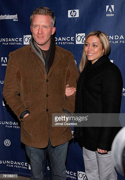 Actor Anthony Michael Hall and guest attend U2 3D premiere during 2008 Sundance Film Festival at Eccles Theatre on January 19 2008 in Park City Utah