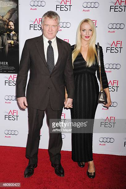 Actor Anthony Michael Hall and Lucia Oskerova attend the premiere of Sony Pictures Classics' 'Foxcatcher' during AFI FEST 2014 presented by Audi at...