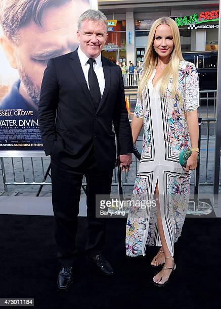 LR Actor Anthony Michael Hall and Lucia Oskerova attend the premiere of 'The Water Diviner' at TCL Chinese Theatre IMAX on April 16 2015 in Hollywood...
