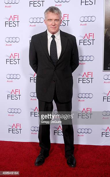 Actor Anthony Michael Hall arrives at the AFI FEST 2014 Presented By Audi Closing Night Gala Premiere of Foxcatcher at Dolby Theatre on November 13...