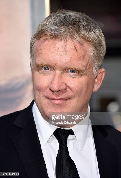 Actor Anthony Michael Hall arrives at the Los Angeles premiere of The Water Diviner at the TCL Chinese Theatre IMAX on April 16 2015 in Hollywood...