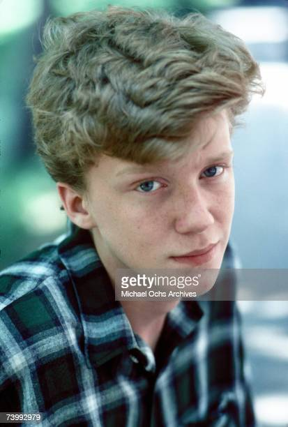 Actor Anthony Michael Hall poses for a portrait session in 1984