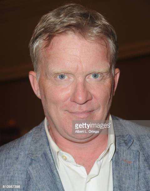 Actor Anthony Michael Hall signs autographs at The Hollywood Show held at Westin LAX Hotel on July 8 2017 in Los Angeles California
