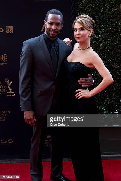 Actor Anthony Montgomery and Actress Lisa Locicero of General Hospital arrive at The National Academy of Television Arts Sciences Daytime Emmmy's...