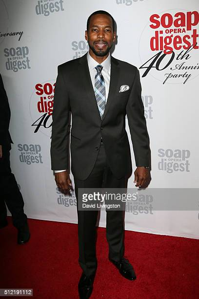 Actor Anthony Montgomery arrives at the 40th Anniversary of the Soap Opera Digest at The Argyle on February 24 2016 in Hollywood California