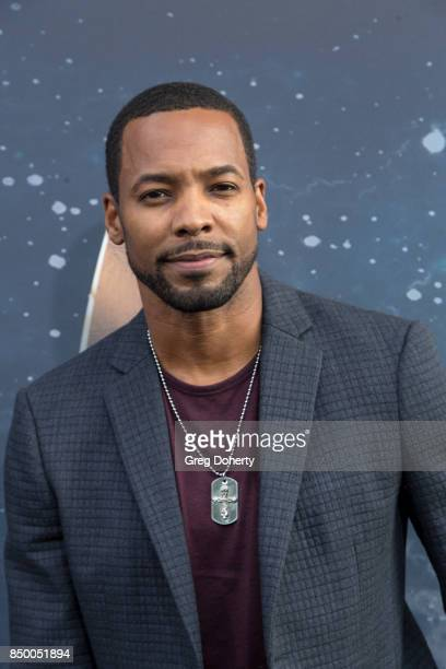 Actor Anthony Montgomery arrives for the Premiere Of CBS's 'Star Trek Discovery' at The Cinerama Dome on September 19 2017 in Los Angeles California