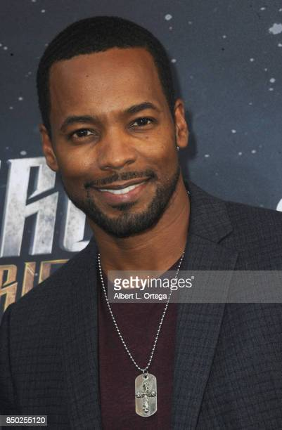 Actor Anthony Montgomery arrives for the Premiere Of CBS's 'Star Trek Discovery' held at The Cinerama Dome on September 19 2017 in Los Angeles...