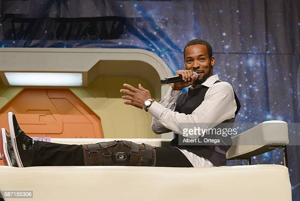 Actor Anthony Montgomery on day 5 of Creation Entertainment's Official Star Trek 50th Anniversary Convention the Rio Hotel Casino on August 7 2016 in...