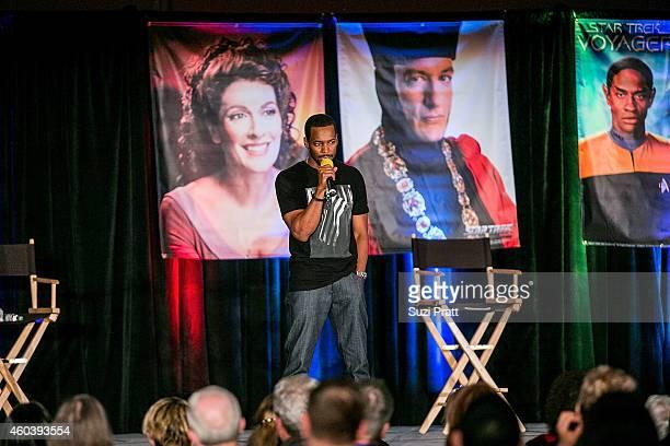 Actor Anthony Montgomery speaks at Creation Entertainment's Official Star Trek Convention at MEYDENBAUER CENTER on December 12 2014 in Bellevue...