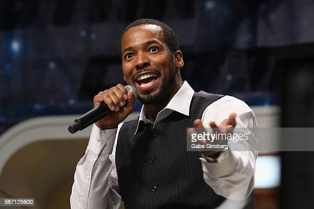 Actor Anthony Montgomery speaks during the 15th annual official Star Trek convention at the Rio Hotel Casino on August 7 2016 in Las Vegas Nevada