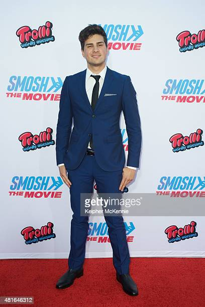 Actor Anthony Padilla attends premiere of Smosh The Movie at Westwood Village Theatre on July 22 2015 in Westwood California