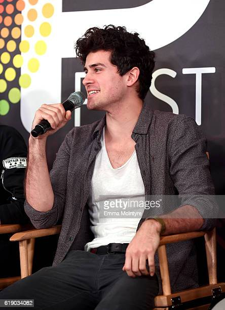 Actor Anthony Padilla speaks onstage at Entertainment Weekly's PopFest at The Reef on October 29 2016 in Los Angeles California