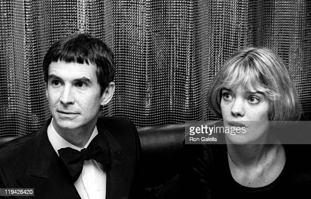Actor Anthony Perkins and photographer Berry Berenson attend A Musical Tribute to Stephen Sondheim on March 11, 1973 at the Shubert Theater in New...