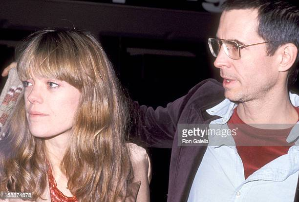 Actor Anthony Perkins and wife Berry Berenson attend 'Pumping Iron' New York City Premiere on January 17 1977 in New York City