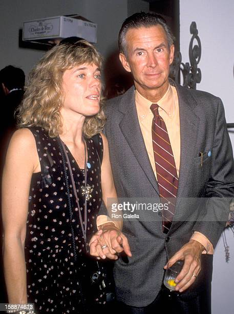 Actor Anthony Perkins and wife Berry Berenson attend the 'Angel Art' Auction of Fine Art and Photography to Benefit Project Angel Food on May 20 1990...