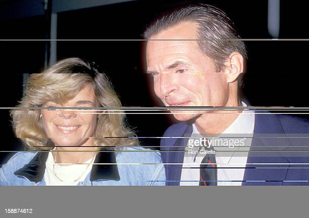Actor Anthony Perkins and wife Berry Berenson attend the 'Dancers' Century City Premiere on October 7 1987 at AMC Center 14 Theatres in Century City...