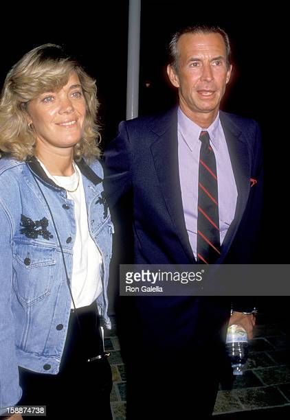 "Actor Anthony Perkins and wife Berry Berenson attend the ""Dancers"" Century City Premiere on October 7, 1987 at AMC Center 14 Theatres in Century..."