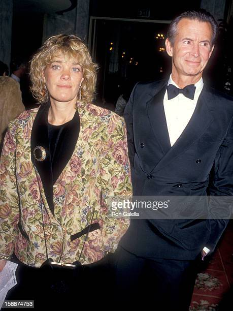 Actor Anthony Perkins and wife Berry Berenson attend the Fourth Annual American Cinema Awards on January 9 1987 at Beverly Wilshire Hotel in Beverly...