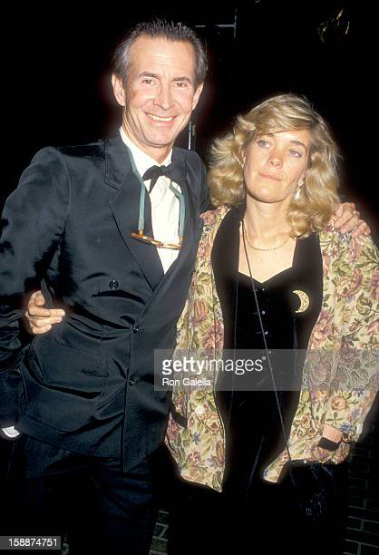 Actor Anthony Perkins and wife Berry Berenson attend the 'History of Hollywood' Costume Exhibition on December 3 1987 at Natural History Museum of...