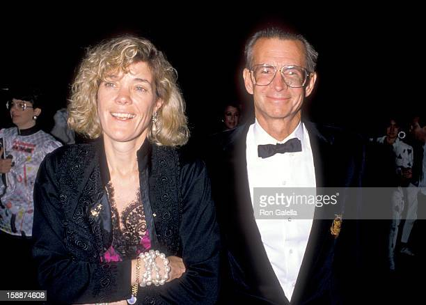 Actor Anthony Perkins and wife Berry Berenson attend 'The Phantom of the Opera' Opening Night Performance on May 31 1989 at Ahmanson Theatre Los...