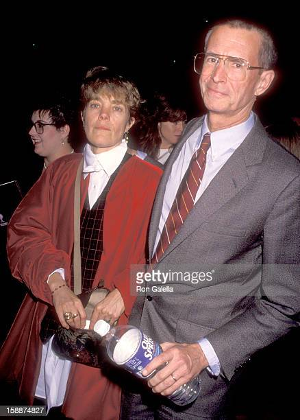Actor Anthony Perkins and wife Berry Berenson attend 'The Prince of Tides' Century City Premiere on December 11 1991 at Cineplex Odeon Century Plaza...