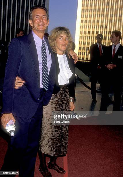 Actor Anthony Perkins and wife Berry Berenson attend the 'Roxanne' Century City Premiere on June 19 1987 at Plitt's Century Plaza Theatres in Century...