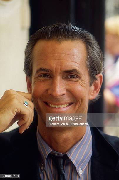 Actor Anthony Perkins is in Paris for the release of his 1983 movie Psycho II