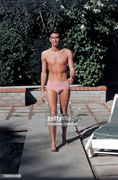Actor Anthony Perkins poses for a portrait at home in 1958 in Los Angeles California
