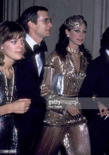Actor Anthony Perkins, wife Berry Berenson and actress Marisa Berenson attend The Metropolian Museum of Art's Costume Institute Gala Exhibition of...