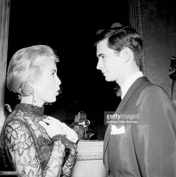 Actor Anthony Perkins with 'Psycho' costar Janet Leigh Photo by Michael Ochs Archives/Getty Images