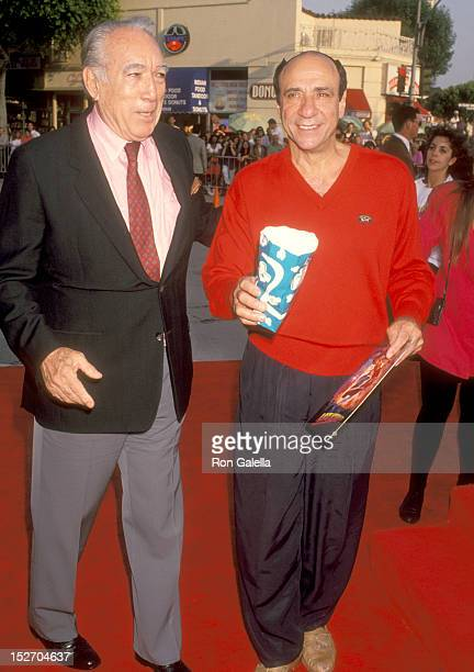 Actor Anthony Quinn and Actor F Murray Abraham attend the Last Action Hero Westwood Premiere on June 13 1993 at Mann Village Theatre in Westwood...