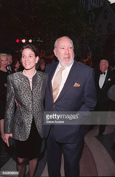 Actor Anthony Quinn and his wife Kathy Benvin attend the 25th anniversary party for the Le Cirque and Osteria del Circo restaurants
