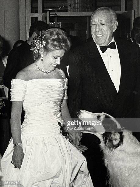 Actor Anthony Quinn and wife Jolanda Addolori attend the Boys' Town of Italy's 43rd Annual 'Ball of the Year' Gala on March 24 1988 at the Grand...