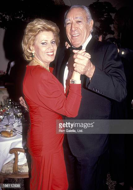 Actor Anthony Quinn and wife Jolanda Addolori attend the Dinner Dance Hosted by Ambassador and Mrs Richard N Gardner to Welcome to New York the...