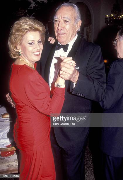 Actor Anthony Quinn and wife Jolanda Addolori attend the Dinner Dance Hosted by Ambassador and Mrs. Richard N. Gardner to Welcome to New York the...