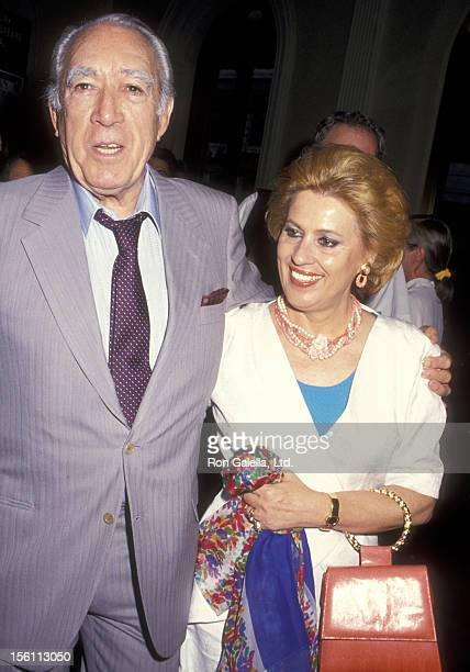 Actor Anthony Quinn and wife Jolanda Addolori attend the Italian Summer Festival Screening of 'Avventure di Pinocchio Le' on July 8 1993 at The...